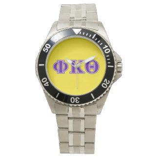 Phi Kappa Theta Purple Letters Watch