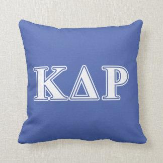 Phi Kappa Theta White and Blue Letters Cushion