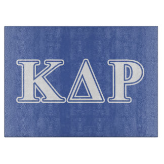 Phi Kappa Theta White and Blue Letters Cutting Board