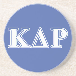 Phi Kappa Theta White and Blue Letters Drink Coaster