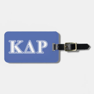 Phi Kappa Theta White and Blue Letters Luggage Tag