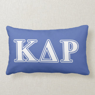 Phi Kappa Theta White and Blue Letters Lumbar Cushion