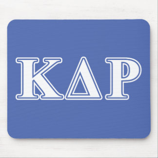Phi Kappa Theta White and Blue Letters Mouse Pad