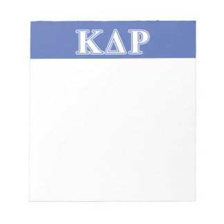 Phi Kappa Theta White and Blue Letters Notepad