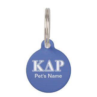 Phi Kappa Theta White and Blue Letters Pet Name Tag