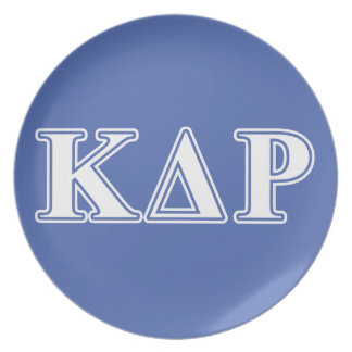 Phi Kappa Theta White and Blue Letters Plate