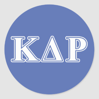 Phi Kappa Theta White and Blue Letters Round Sticker