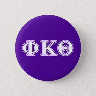 Phi Kappa Theta White and Purple Letters 6 Cm Round Badge