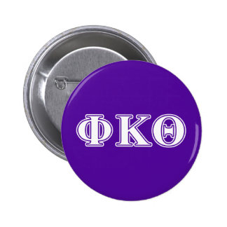 Phi Kappa Theta White and Purple Letters 6 Cm Round Badge