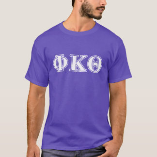 Phi Kappa Theta White and Purple Letters T-Shirt