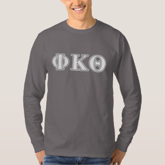 Phi Kappa Theta White and Yellow Letters T-Shirt