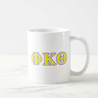 Phi Kappa Theta Yellow and Purple Letters Coffee Mug