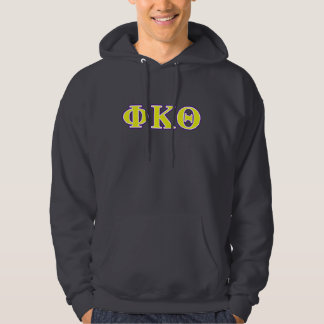 Phi Kappa Theta Yellow and Purple Letters Hoodie
