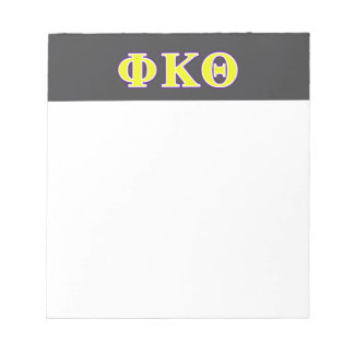 Phi Kappa Theta Yellow and Purple Letters Notepad