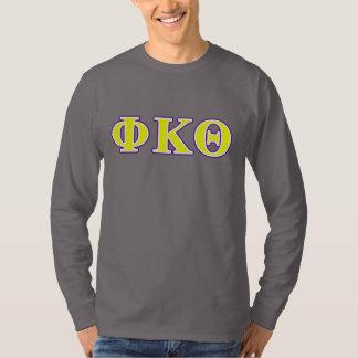Phi Kappa Theta Yellow and Purple Letters T-Shirt