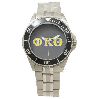 Phi Kappa Theta Yellow and Purple Letters Watch