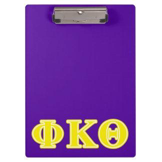 Phi Kappa Theta Yellow Letters Clipboard