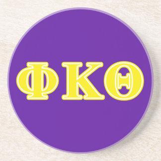 Phi Kappa Theta Yellow Letters Coaster