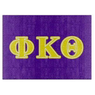 Phi Kappa Theta Yellow Letters Cutting Board