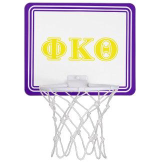 Phi Kappa Theta Yellow Letters Mini Basketball Hoop
