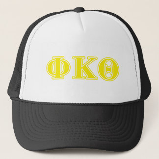 Phi Kappa Theta Yellow Letters Trucker Hat