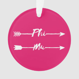 Phi Mu Arrow Ornament