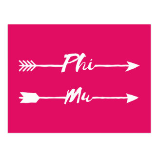 Phi Mu Arrow Postcard