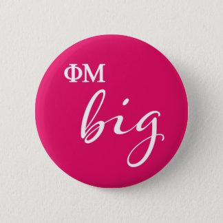 Phi Mu Big Script 6 Cm Round Badge