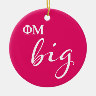 Phi Mu Big Script Christmas Ornament