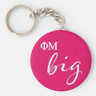 Phi Mu Big Script Key Ring