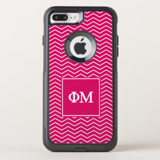 Phi Mu | Chevron Pattern OtterBox Commuter iPhone 7 Plus Case