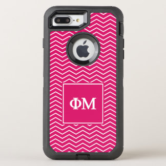 Phi Mu | Chevron Pattern OtterBox Defender iPhone 7 Plus Case