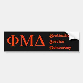 Phi Mu Delta Bumper Sticker
