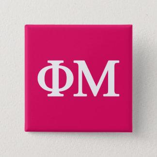 Phi Mu Lil Big Logo 15 Cm Square Badge