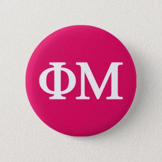 Phi Mu Lil Big Logo 6 Cm Round Badge