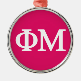 Phi Mu Lil Big Logo Christmas Ornament