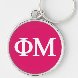Phi Mu Lil Big Logo Key Ring