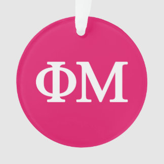 Phi Mu Lil Big Logo Ornament