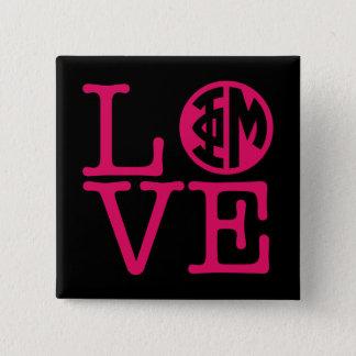 Phi Mu Love 15 Cm Square Badge