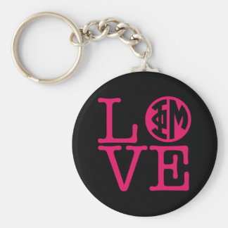 Phi Mu Love Key Ring