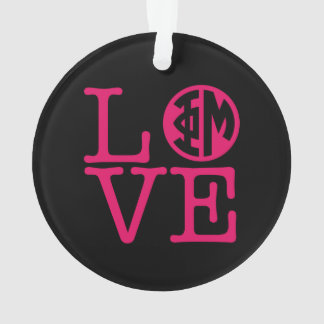 Phi Mu Love Ornament
