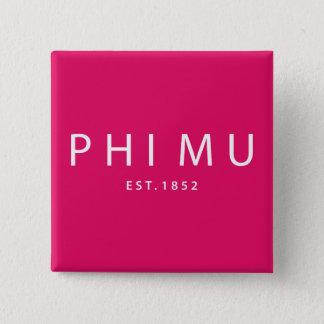 Phi Mu Modern Type 15 Cm Square Badge