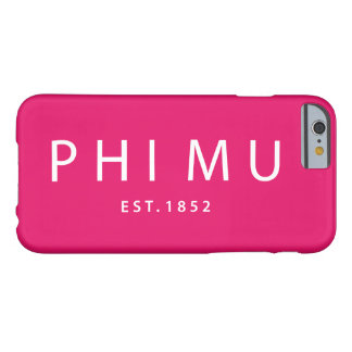 Phi Mu Modern Type Barely There iPhone 6 Case