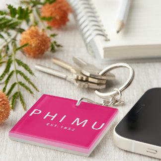 Phi Mu Modern Type Key Ring