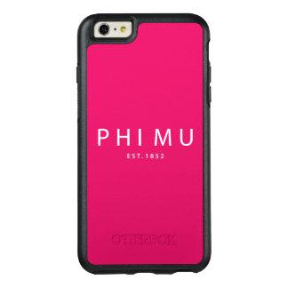 Phi Mu Modern Type OtterBox iPhone 6/6s Plus Case