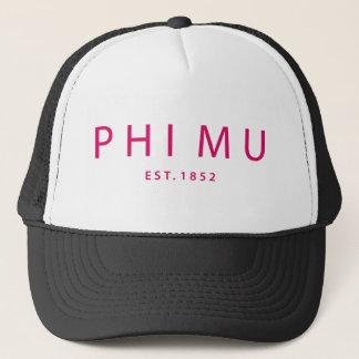 Phi Mu Modern Type Trucker Hat