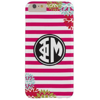 Phi Mu | Monogram Stripe Pattern Barely There iPhone 6 Plus Case