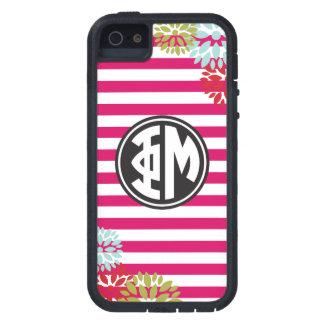 Phi Mu | Monogram Stripe Pattern iPhone 5 Covers
