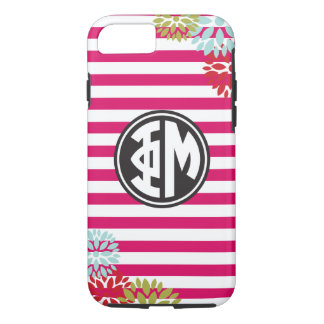 Phi Mu | Monogram Stripe Pattern iPhone 7 Case