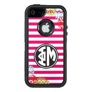 Phi Mu | Monogram Stripe Pattern OtterBox iPhone 5/5s/SE Case